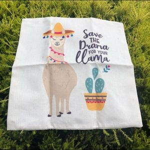 """""""Save the drama for your llama"""" Cushion Cover"""